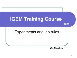 iGEM Training Course