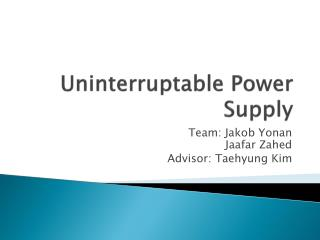 Uninterruptable Power Supply