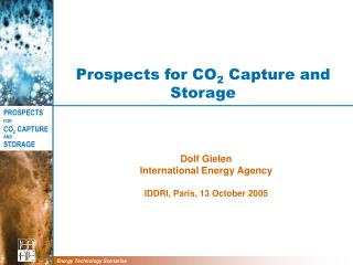 Prospects for CO 2  Capture and Storage