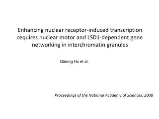 Proceedings of the National Academy of Sciences, 2008