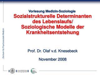 Vorlesung Medizin-Soziologie