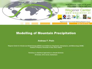 Modelling of Mountain Precipitation