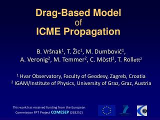 Drag-Based Model  of ICME Propagation