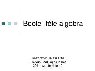 Boole- féle algebra