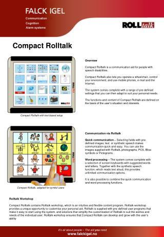 Compact Rolltalk