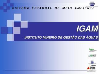 IGAM INSTITUTO MINEIRO DE GESTÃO DAS ÁGUAS