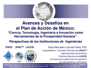 Mar ía Mercedes Larrondo Petrie,  PhD Vicepresidenta – Inovaci ón Educativa de  (EftA) TM