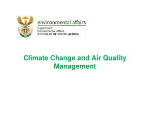 Climate  Change and Air Quality Management