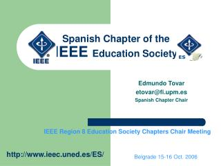 Spanish Chapter of the IEEE  Education Society