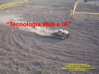 �Tecnolog�a Web e IA�