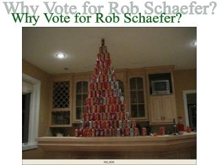 Why Vote for Rob Schaefer?
