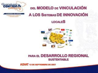 DEL MODELO DE VINCULACI N A LOS SISTEMAS DE INNOVACI N  LOCALES     PARA EL DESARROLLO REGIONAL SUSTENTABLE ADIAT 12 DE
