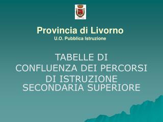 Provincia di Livorno U.O. Pubblica Istruzione