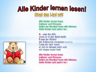 Alle Kinder lernen lesen!
