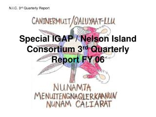 Special IGAP / Nelson Island Consortium 3 rd  Quarterly Report FY 06