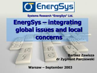 """Systems Research """"EnergSys"""" Ltd."""