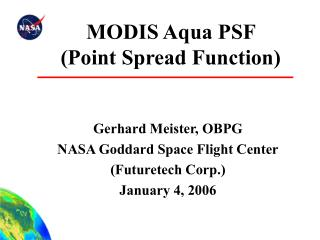 MODIS Aqua PSF  Point Spread Function