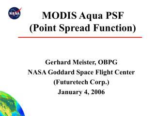 MODIS Aqua PSF  Point Spread Function