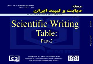 Table : Part-2