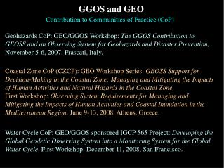 GGOS and GEO