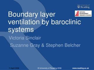 Boundary layer ventilation by baroclinic systems