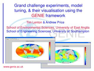 Grand challenge experiments, model tuning, & their visualisation using the  GENIE  framework