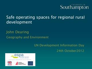 Safe operating spaces for regional rural development