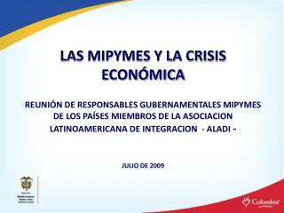 LAS MIPYMES Y LA CRISIS ECON MICA  REUNI N DE RESPONSABLES GUBERNAMENTALES MIPYMES  DE LOS PA SES MIEMBROS DE LA ASOCIAC