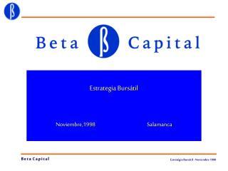 Estrategia Bursátil  Noviembre,1998Salamanca