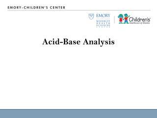 Acid-Base Analysis