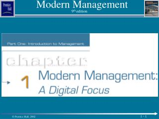 Modern Management 9 th  edition