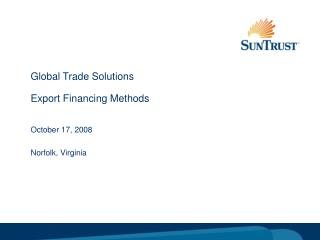 Global Trade Solutions Export Financing Methods