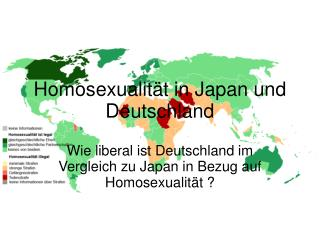 Homosexualität in Japan und Deutschland