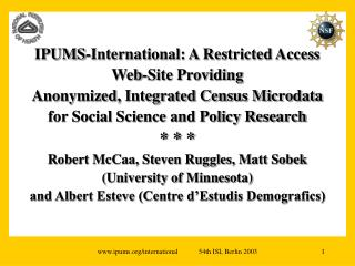 Overview: access, privacy and confidentiality for integrated census microdata of 40+ countries