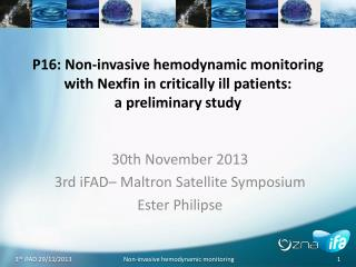 30th November 2013 3rd iFAD– Maltron Satellite Symposium Ester Philipse