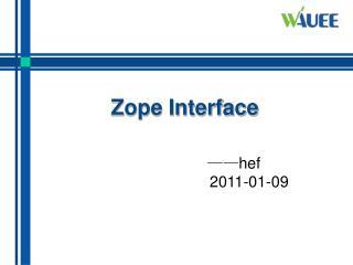 Zope Interface