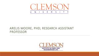 Arelis moore , PhD; research assistant professor