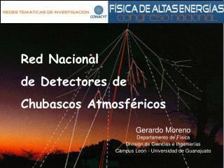 Red Nacional de Detectores de  Chubascos Atmosféricos