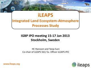 iLEAPS Integrated Land Ecosystem-Atmosphere  Processes Study