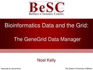 Bioinformatics Data and the Grid: The GeneGrid Data Manager