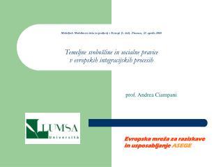 p rof. Andrea Ciampani