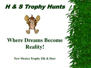 H  S Trophy Hunts        Where Dreams Become Reality  New Mexico Trophy Elk  Deer