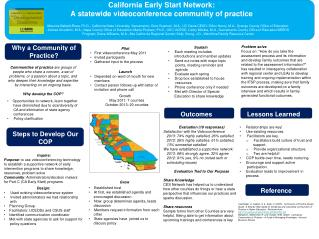 California Early Start Network:  A statewide videoconference community of practice