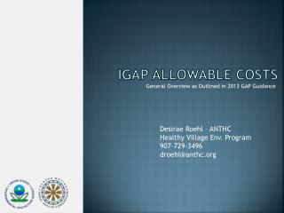 IGAP Allowable Costs