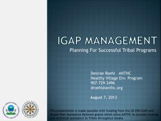 IGAP Management