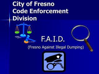City of Fresno Code Enforcement Division