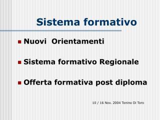 Sistema formativo