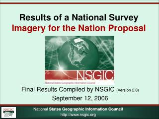 Results of a National Survey Imagery for the Nation Proposal
