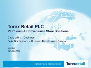 Torex Retail PLC Petroleum & Convenience Store Solutions