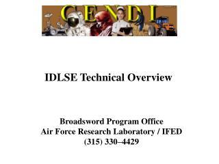 IDLSE Technical Overview